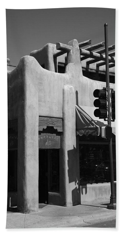 Adobe Bath Sheet featuring the photograph Santa Fe Adobe Shop by Frank Romeo