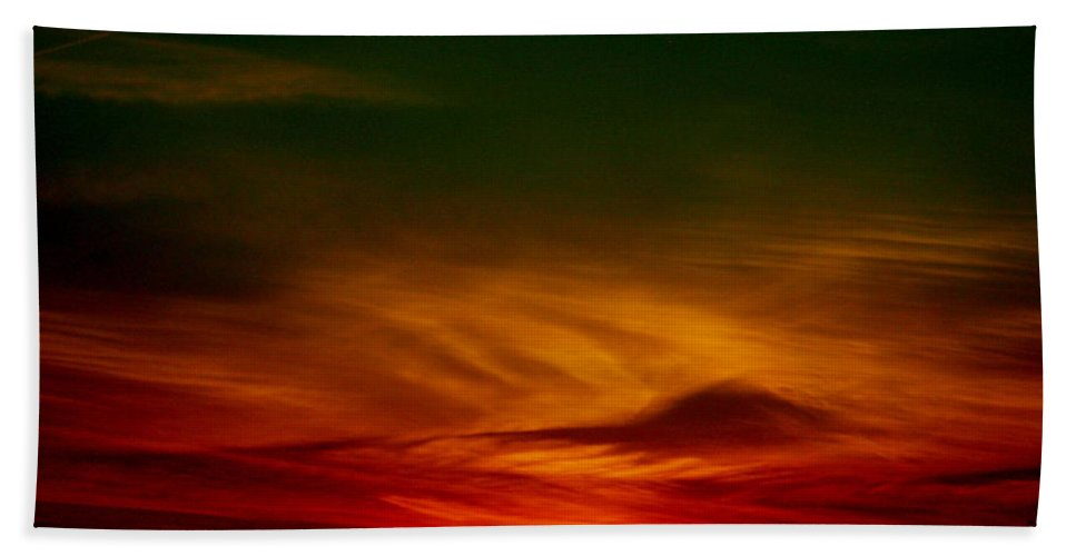 Sunset Bath Sheet featuring the photograph September 30 2007 by Mark Gilman