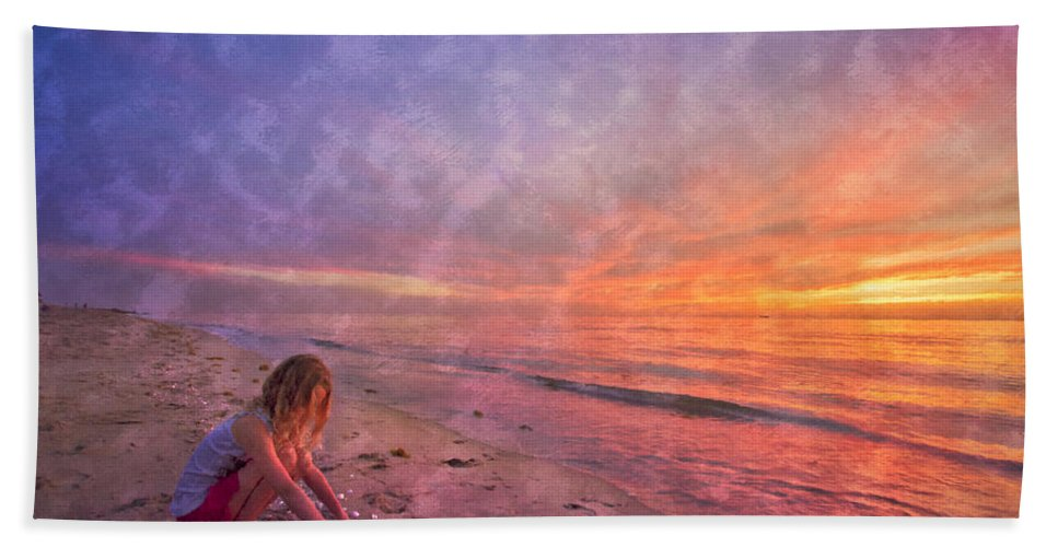 Clouds Bath Sheet featuring the photograph Shelling by Debra and Dave Vanderlaan
