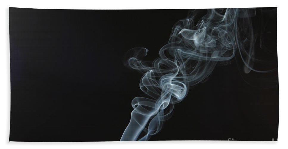 Cigarette Hand Towel featuring the photograph Smoke by Ted Kinsman