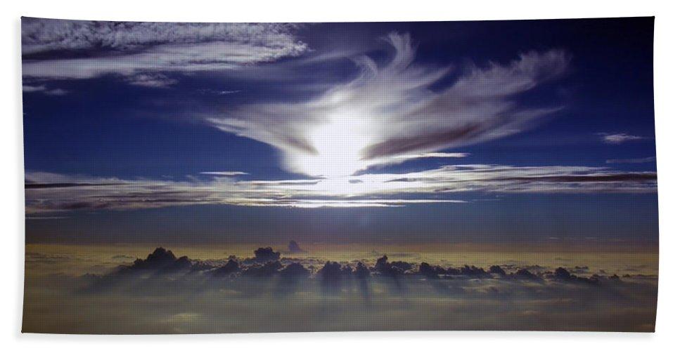 Cloud Photos Bath Sheet featuring the photograph Solara by Strato ThreeSIXTYFive