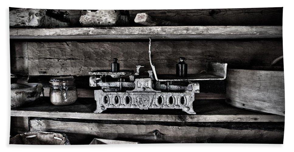 Seitseminen Hand Towel featuring the photograph Steelyard by Jouko Lehto