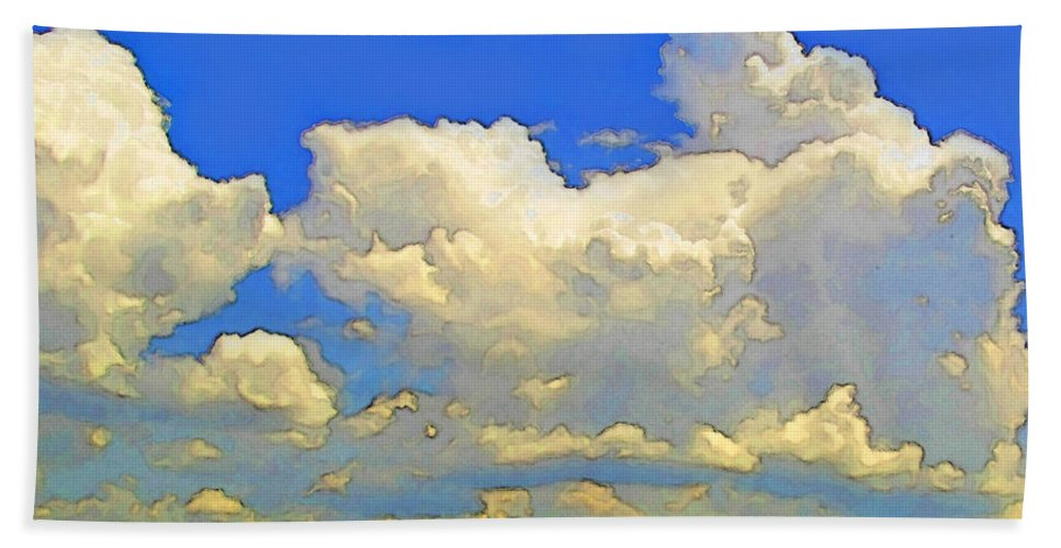 Nature Bath Sheet featuring the photograph Storm Clouds Rising Art by Debbie Portwood