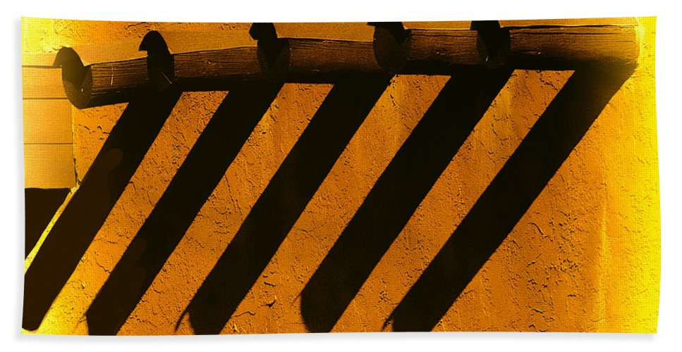 Shadows Bath Sheet featuring the photograph Taos Sundown by Terry Fiala