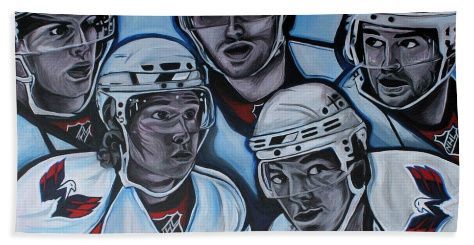 Washington Capitals Bath Towel featuring the painting The Capitals by Kate Fortin