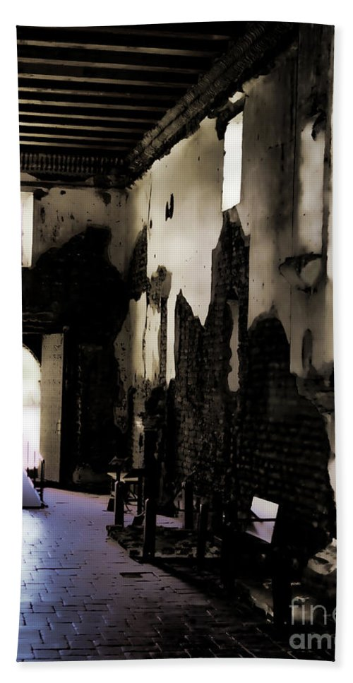 Fine Art Photography Bath Sheet featuring the photograph The Ghostly Nave by Donna Greene