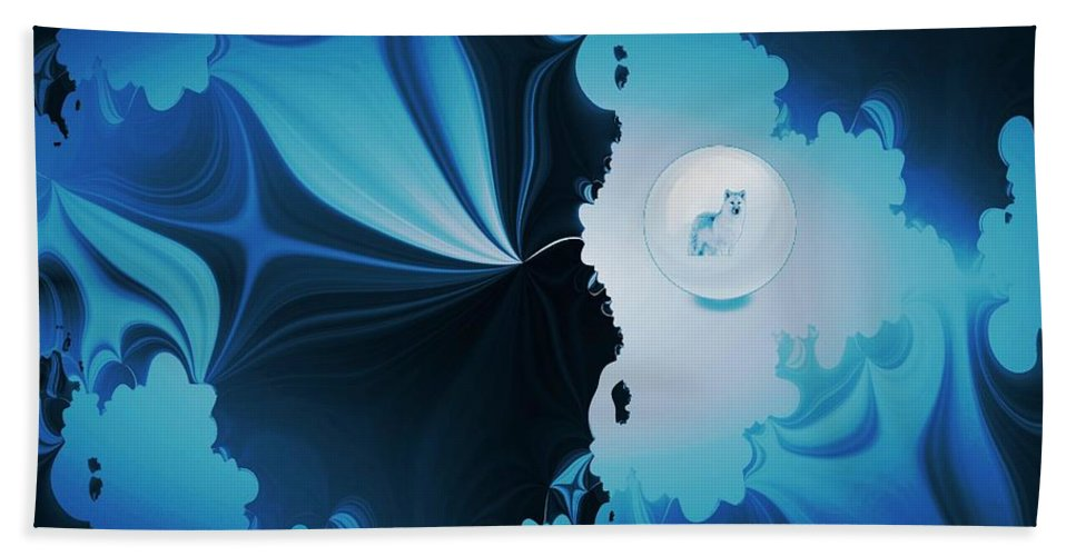 Wolf Hand Towel featuring the digital art The Wolf Within by Maria Urso