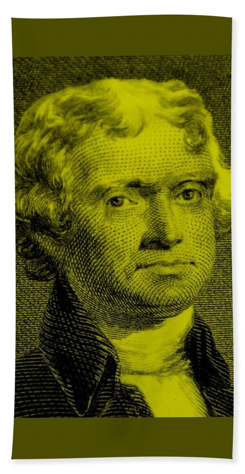 Thomas Jefferson Bath Sheet featuring the photograph Thomas Jefferson In Yellow by Rob Hans