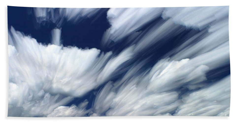 Cloud Hand Towel featuring the photograph Time-lapse Clouds by Ted Kinsman
