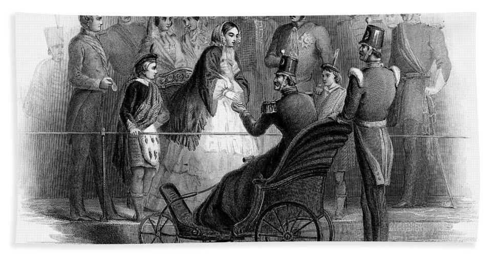 1856 Bath Sheet featuring the photograph Victoria Of England by Granger