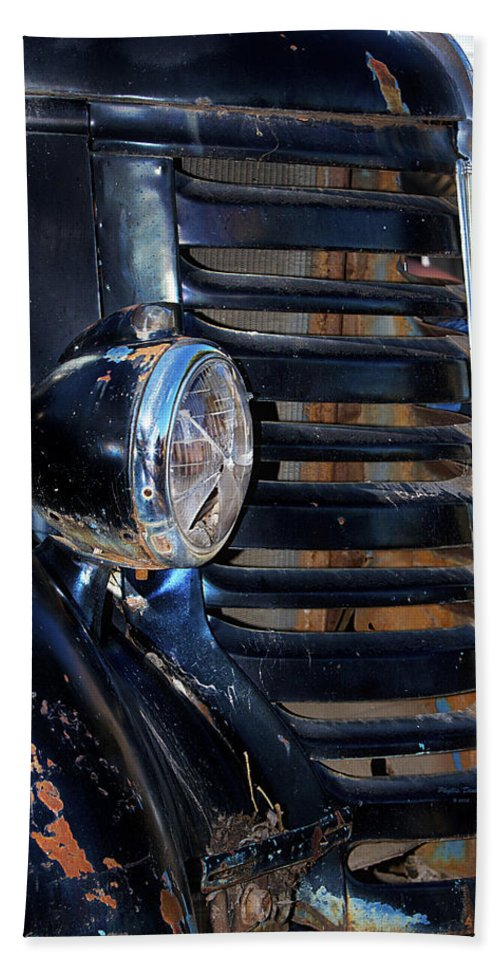 Car. Classic Bath Sheet featuring the photograph Vintage Car Grill by Phyllis Denton