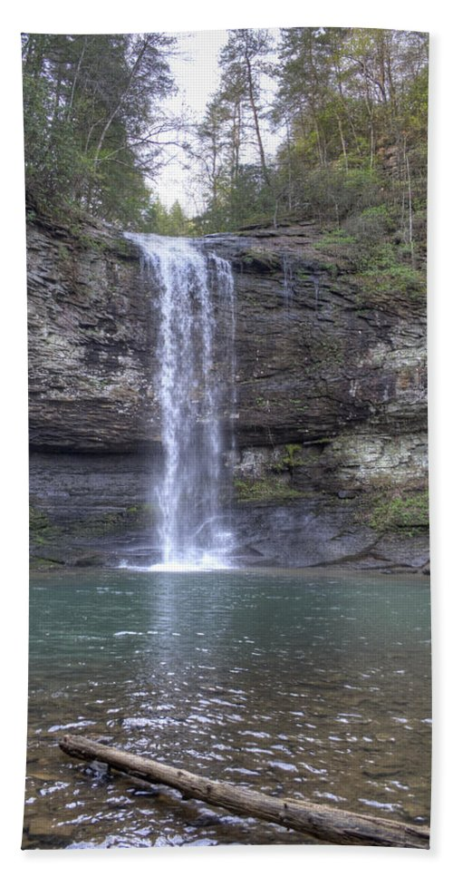 Waterfall Hand Towel featuring the photograph Waterfall by David Troxel