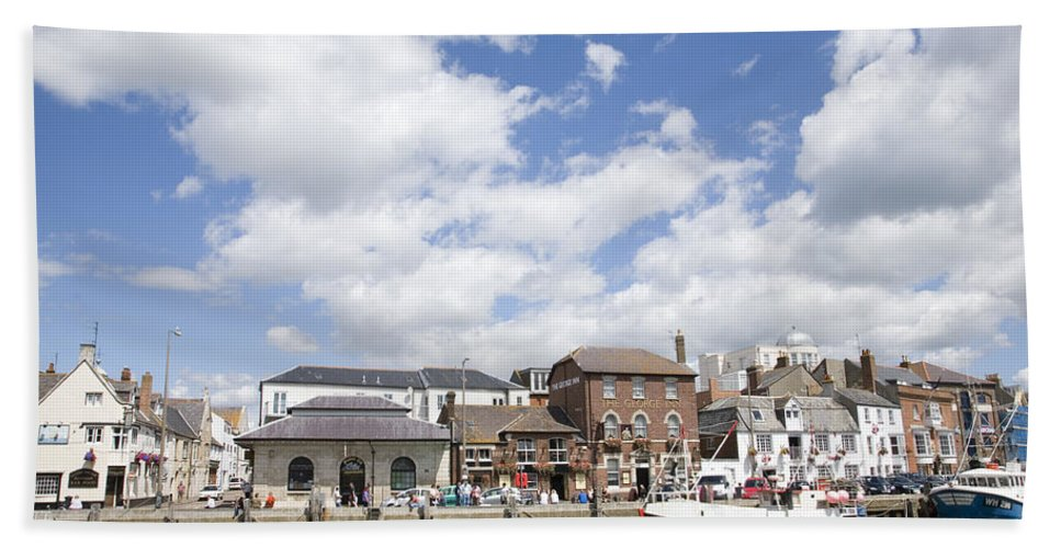Weymouth Bath Sheet featuring the photograph Weymouth Harbour by Ian Middleton