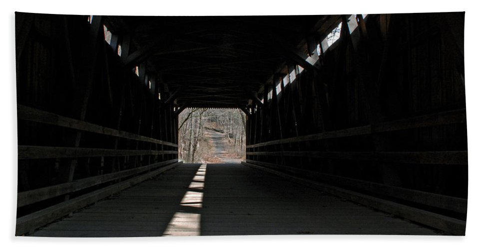 Landscape Bath Sheet featuring the photograph What Lies Ahead by Lisa Phillips