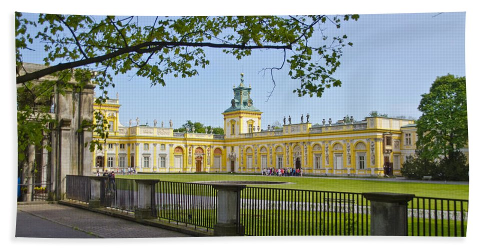 Wilanow Palace Bath Sheet featuring the photograph Wilanow Palace - Warsaw by Jon Berghoff