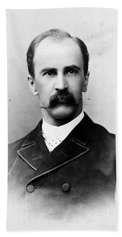 Science Hand Towel featuring the photograph William Osler, Canadian Physician by Science Source
