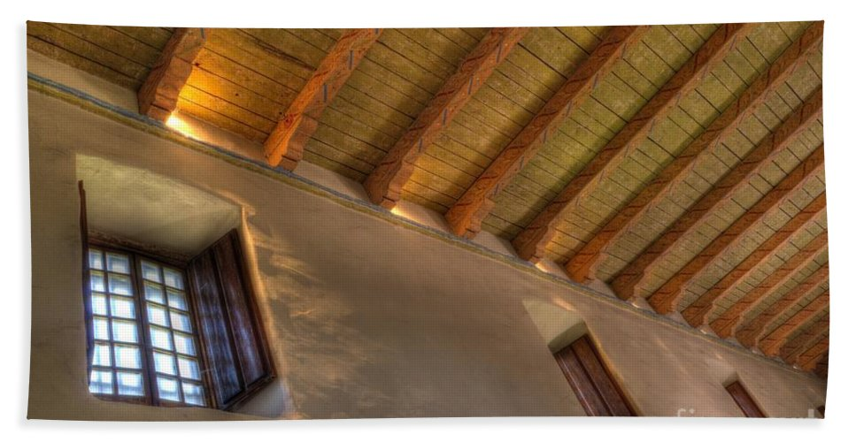 Mission San Diego De Alcala Hand Towel featuring the photograph Window Light by Bob Christopher