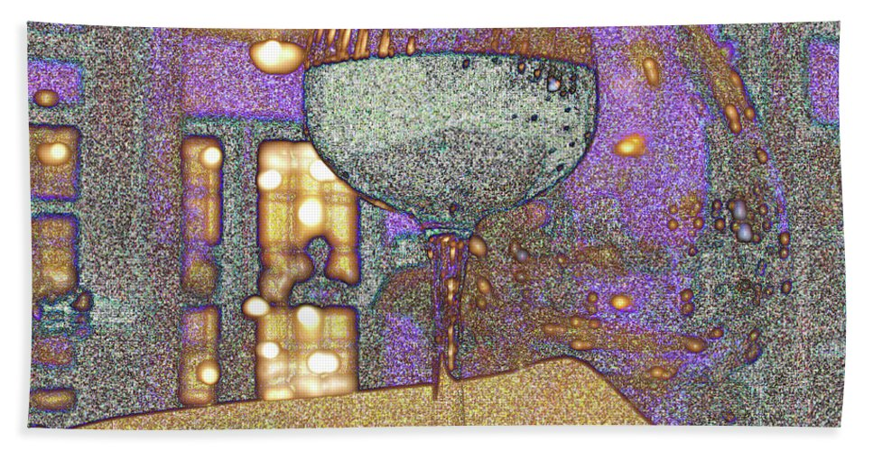 Wine Hand Towel featuring the photograph Wine Glass by Michael Merry