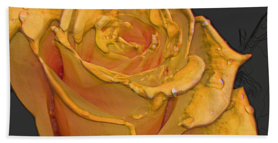 Nature Bath Sheet featuring the photograph Yellow Rose Art by Debbie Portwood