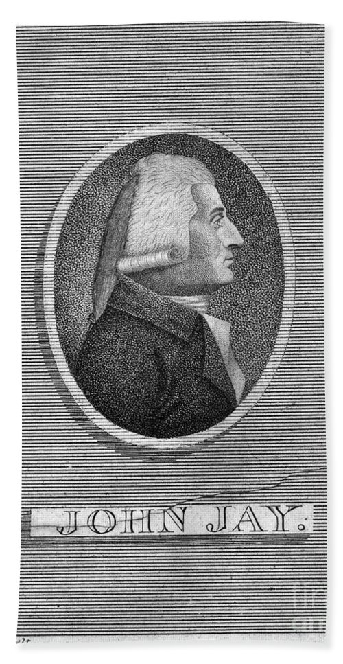 1804 Hand Towel featuring the photograph John Jay (1745-1829) by Granger