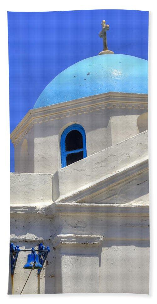 Agios Nikolaos Tis Kadenas Bath Towel featuring the photograph Mykonos by Joana Kruse