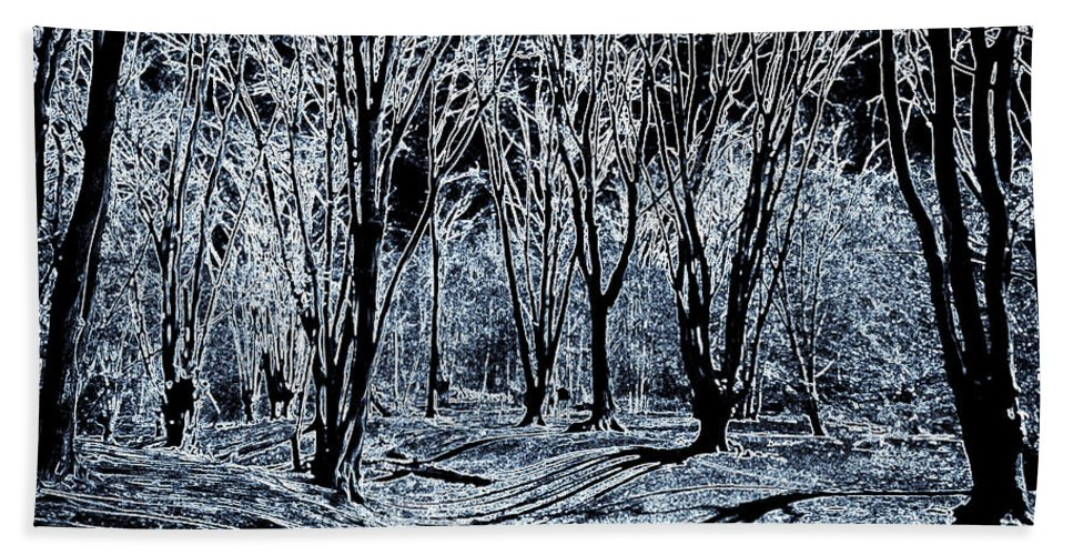 Fort Hand Towel featuring the digital art Ambresbury Banks by David Pyatt