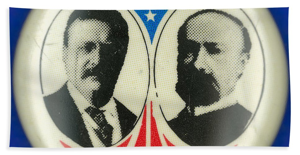 1904 Hand Towel featuring the photograph Presidential Campaign: 1904 by Granger