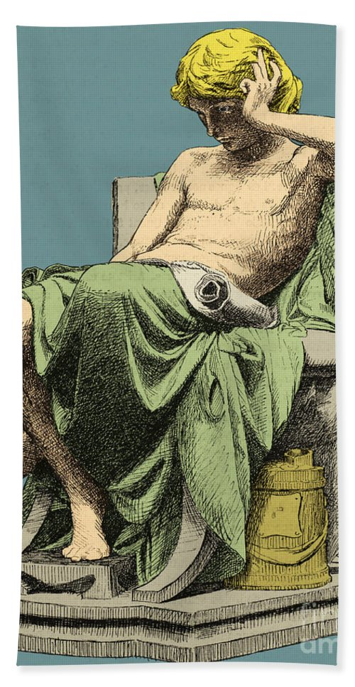 History Hand Towel featuring the photograph Aristotle, Ancient Greek Philosopher by Science Source