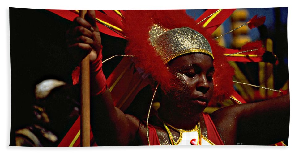 Parade Bath Sheet featuring the photograph West Indian Day Parade Brooklyn Ny by Mark Gilman