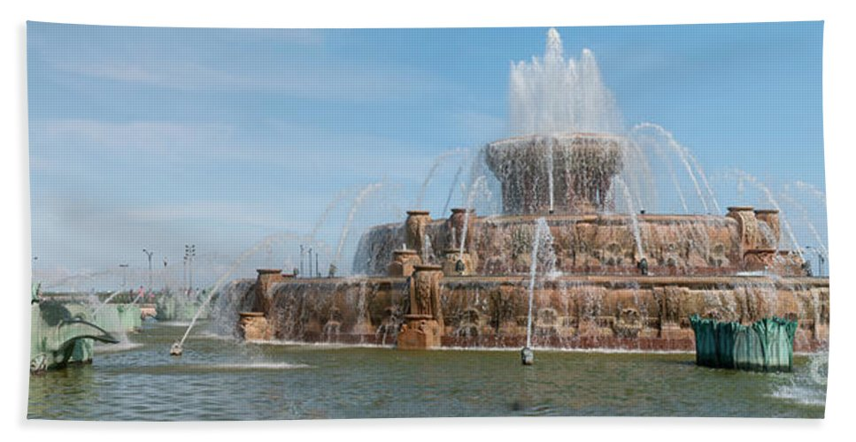 Chicago Hand Towel featuring the digital art Chicago City Scenes by Carol Ailles