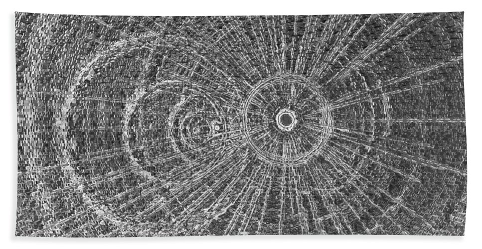 Metal Bath Sheet featuring the digital art Circle Art by David Pyatt