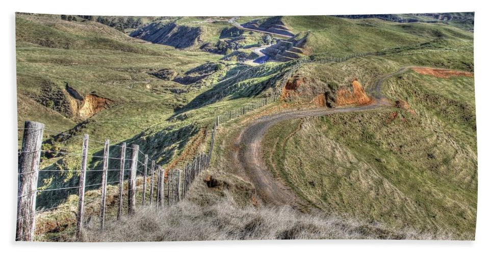 Countryside Bath Sheet featuring the photograph Landscape by Les Cunliffe