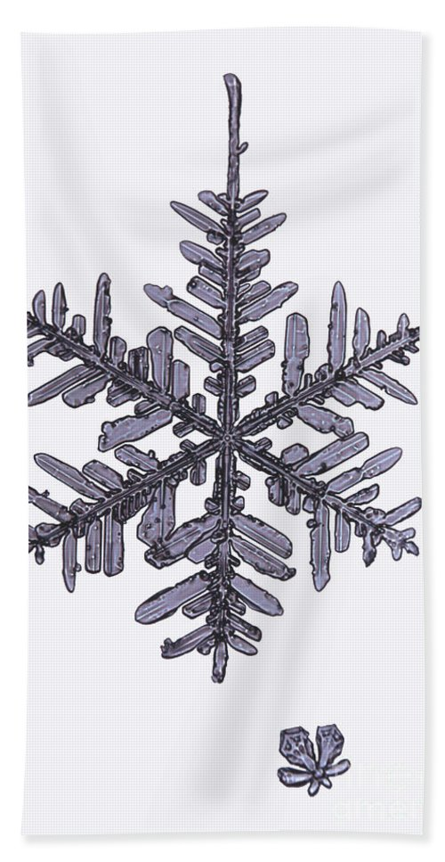 Snowflake Hand Towel featuring the photograph Snowflake by Ted Kinsman