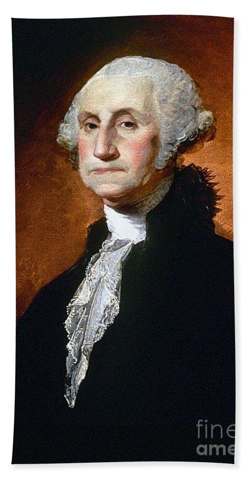 1797 Bath Sheet featuring the photograph George Washington by Granger