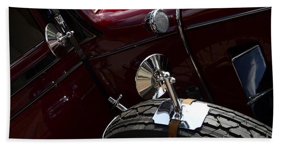 Automobile Art Hand Towel featuring the photograph 1932 Chevrolet Detail by Bob Christopher