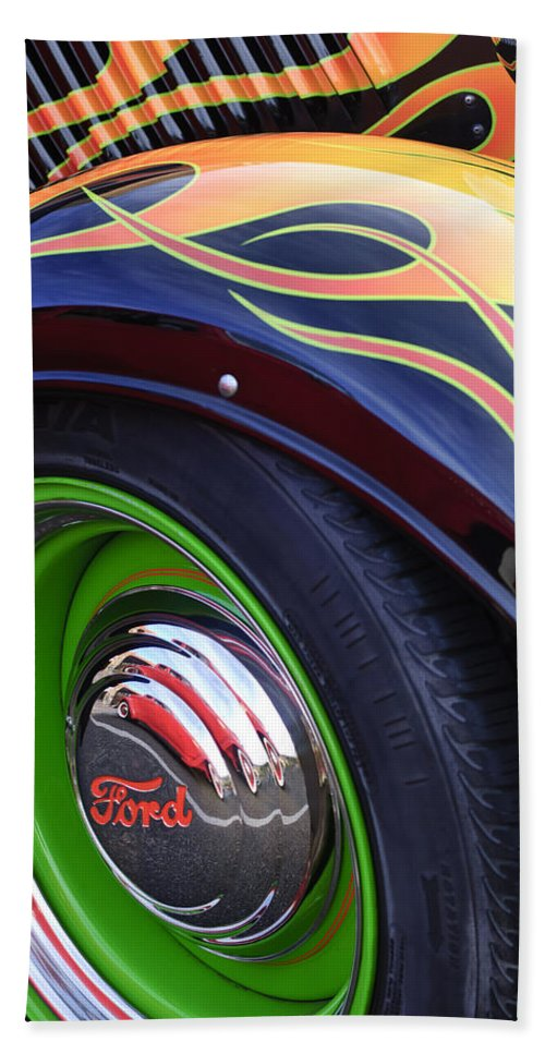 1933 Ford Hand Towel featuring the photograph 1933 Ford Wheel by Jill Reger