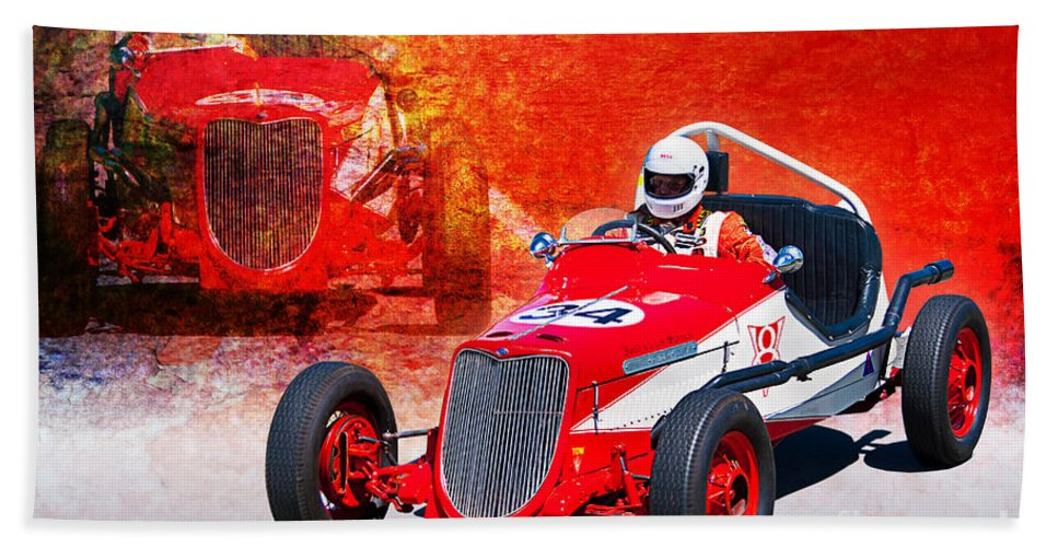 1934 Bath Sheet featuring the photograph 1934 Ford Indy Special by Stuart Row