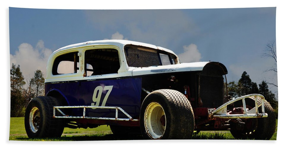 1934 Ford Stock Car Hand Towel featuring the photograph 1934 Ford Stock Car by Bill Cannon