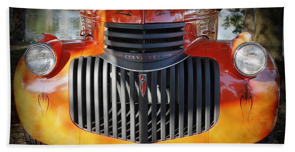 1930s Hand Towel featuring the photograph 1936 Chevrolet Pickup Truck by Robin Lewis