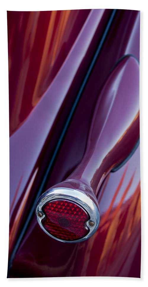 1936 Ford Phaeton Hand Towel featuring the photograph 1936 Ford Phaeton Taillight by Jill Reger