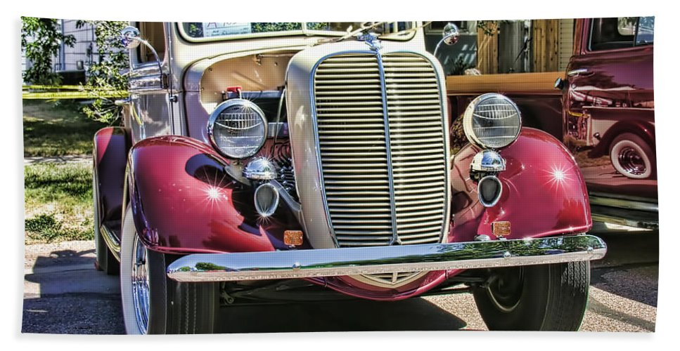 Ford Bath Sheet featuring the photograph 1937 Ford by Adam Vance