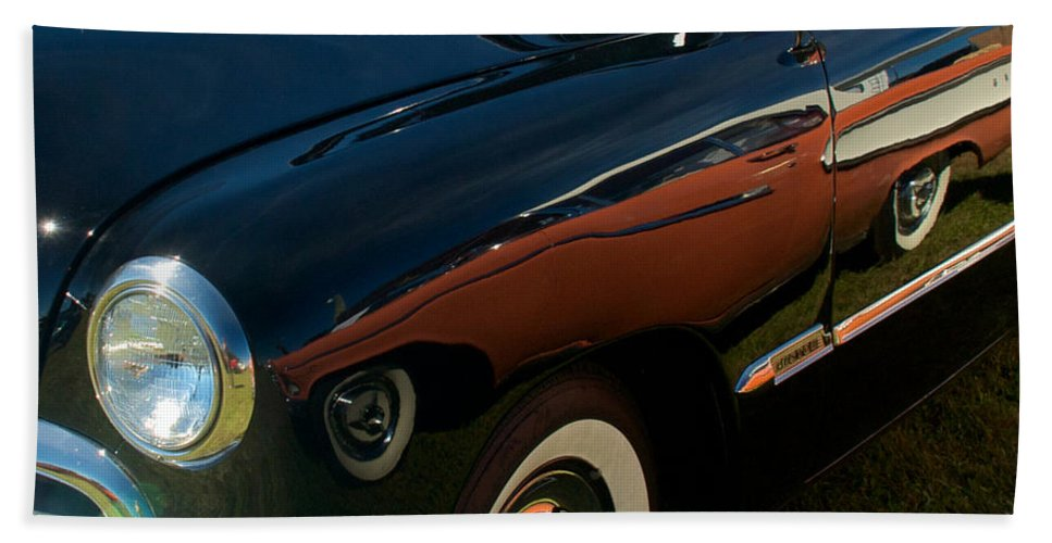 1950 Ford Hand Towel featuring the photograph 1950 Ford by Mark Dodd