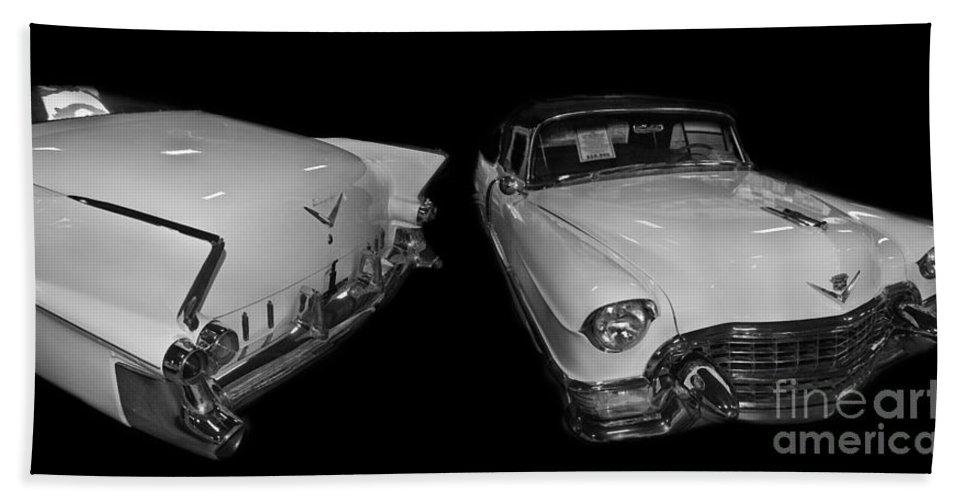 1955 Bath Sheet featuring the digital art 1955 Cadillac Series 62 El Dorado Convertible by Tim Mulina