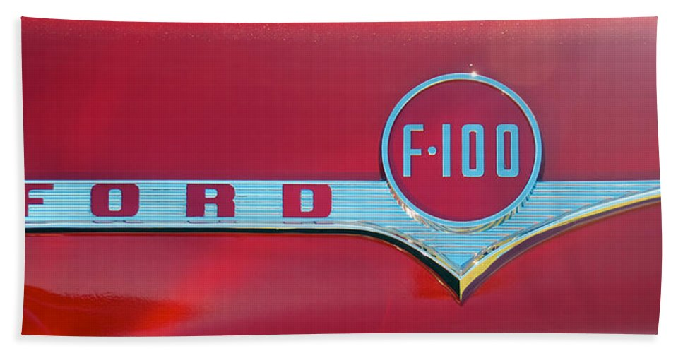 1956 Ford F100 Hand Towel featuring the photograph 1956 Ford F100 by Mark Dodd