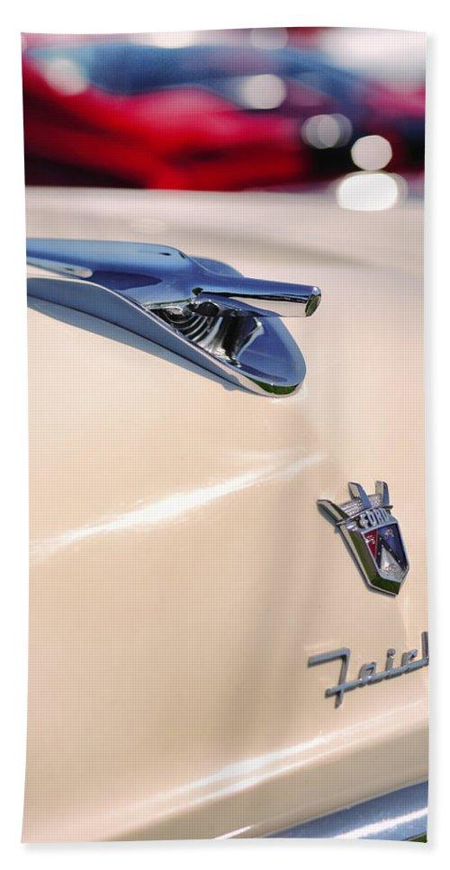 1956 Bath Sheet featuring the photograph 1956 Ford Fairlane by Gordon Dean II