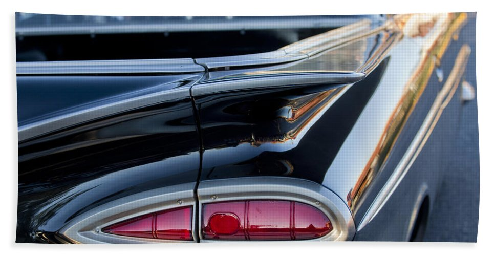 1959 Chevrolet Bath Sheet featuring the photograph 1959 Chevrolet Taillight by Jill Reger