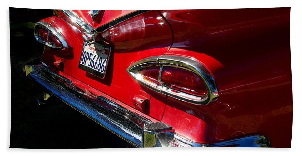 1959 Chevy El Camino Taillight Bath Sheet featuring the photograph 1959 Chevy El Camino by Peter Piatt