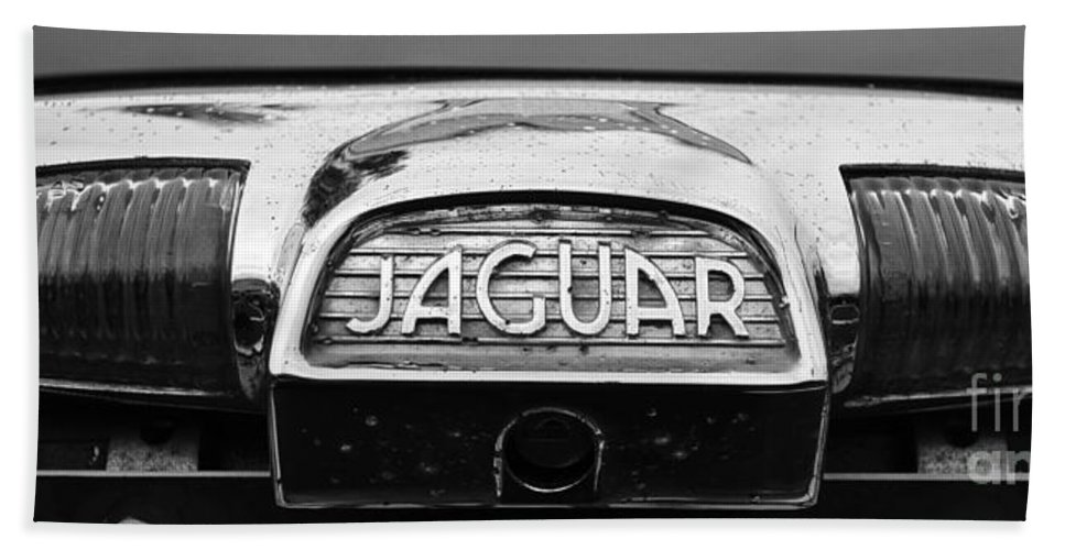 1963 Jaguar Mkii Bath Sheet featuring the photograph 1963 Jaguar Back Up Light by Paul Ward