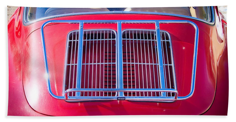 Automobiles Bath Sheet featuring the photograph 1963 Red Porsche 356b Super 90 Back End by James BO Insogna