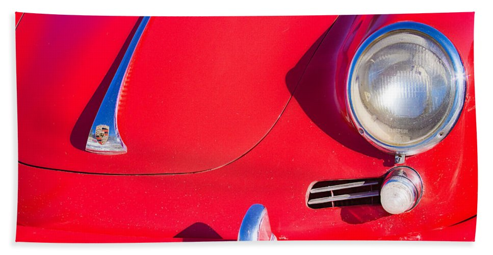 Automobiles Bath Sheet featuring the photograph 1963 Red Porsche by James BO Insogna